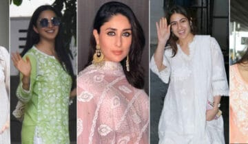 The times when Indian Bollywood stars dressed in Chikankari